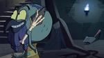 S2E35 Ludo talks into his wand like a phone