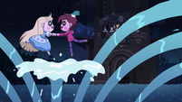S2E40 Star and Marco puppets on a spout of water