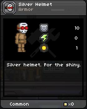 Silver helmet