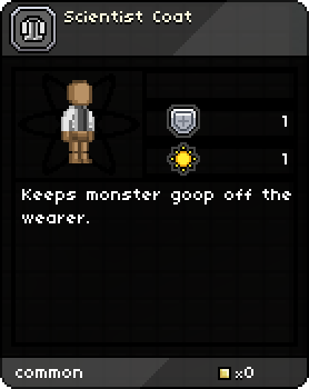 Scientist Coat Tooltip