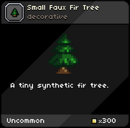 Small Faux Fir Tree tooltip