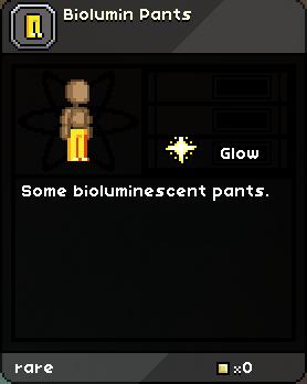 Biolumin Pants Tooltip