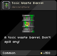 Toxic Waste Barrel infobox