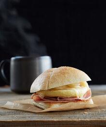 Starbucks Ham & Chedder Breakfast Sandwich