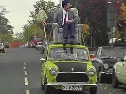 File:Mr.bean on top of his car.jpg