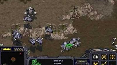 Starcraft Brood War - Terran Campaign Mission 6 - Emperor's Flight Walkthough Lets Play