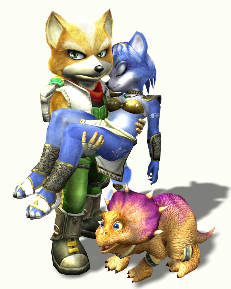 Fox, Krystal et Tricky dans StarFox Adventures
