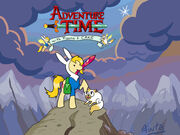 Mlp adventure time with fionna and cake by fuutachimaru