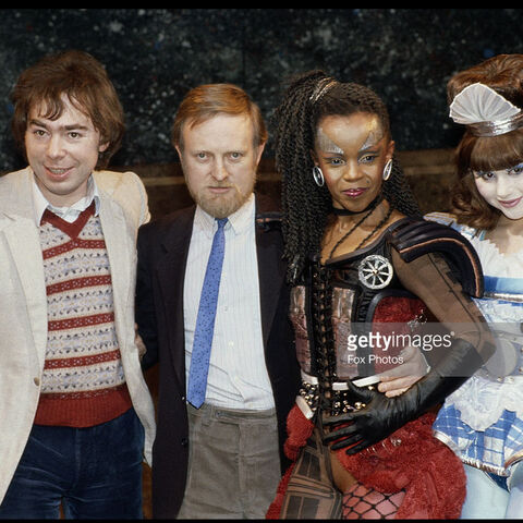 London, 1984 with Richard Stilgoe