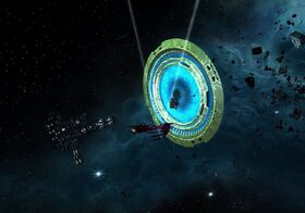 Aegis T-Gate with enemy station behind