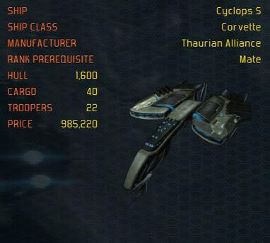 CyclopsS ship