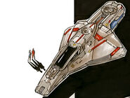 Federation Orcus fighter closeup