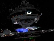 Enterprise-D orbits Starbase 173