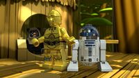 C3PO R2D2 Exit from Endor