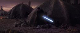 Anakin Skywalker slaughters Tusken Raiders