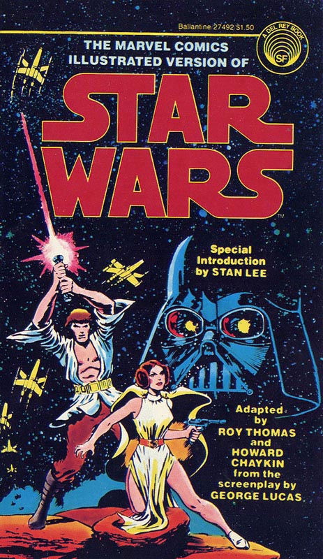 Illustrated Book Cover Version : The marvel comics illustrated version of star wars