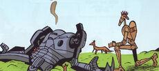 Lone battle droid compassion