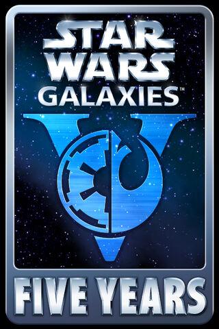 File:Star Wars Galaxies Five Years.jpg