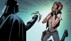 Vader Force chokes Aphra