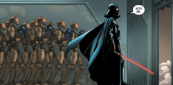 Vaders loyal droid soldiers