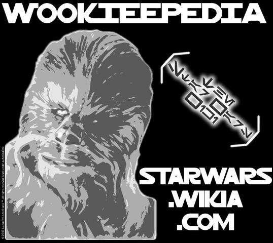 File:Wookieepedia shirt bw.png