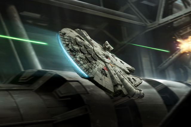 File:Rey Millennium Falcon XWM.png