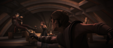 Anakin about to kill Clovis