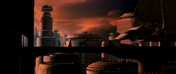 Vader leaving Cloud City