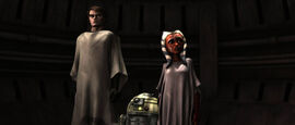 Anakin Ahsoka and R3-S6 search for R2-D2