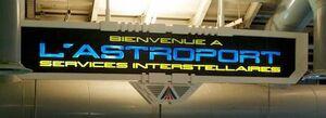 Astroport Interstellar Services sign