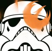Rebel Graffiti on Helmet
