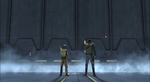 Ezra and Kanan force wall