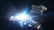 Explosion of the Imperial Interdictor