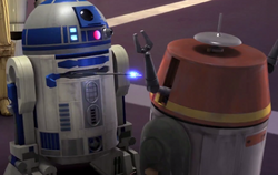 R2 and Chopper playing
