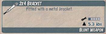 2x4 Bracket Infocard