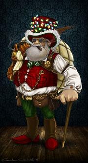 Steampunk santa by millameh-d6xkkuu