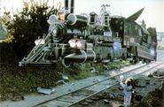 BttF-III train levitating