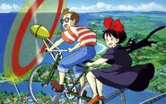 Kiki's Delivery Service - flying bicycle
