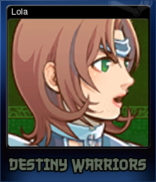 Destiny Warriors RPG Card 1