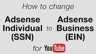 How To Change YouTube Adsense From Individual to Business • 6.25