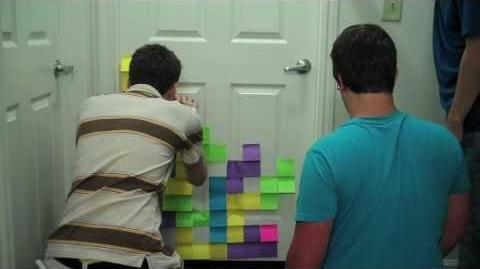 Post-It Tetris Masterpiece (Day 298 - 9 18 10)