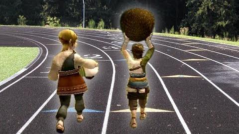 Link Races a Pregnant Woman