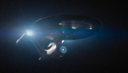 USS Enterprise-A going to warp, alternate reality-1-