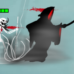 Reaper starts to fly at the target
