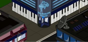 Dangling piano