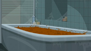 """S1 E16 Broseph points to """"boiling brown crud"""" in the bath"""