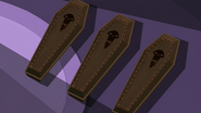S2 E8 three cofins belonging to the VIPs