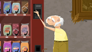 S1 E16 Chester tries to get a snack out of the vending machine