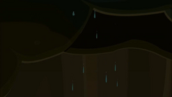 S1 E11 Johnny sees many droplets coming through the sand