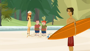 "S1 E9 Lo asks the surfer ""Kids are just so fun, aren't they?"""
